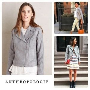 Anthropologie Hei Hei Vegan Suede Moto Jacket M